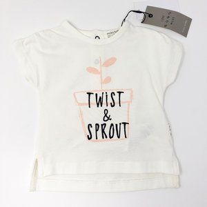 Miles Baby Twist & Sprout Tee Shirt